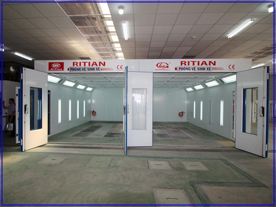 Phòng sơn sấy tiêu chuẩn RITIAN dành cho xe ô tô con RT-II-A 1