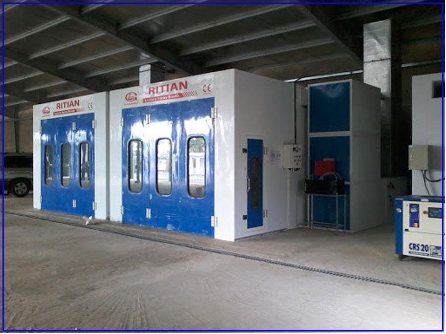 Phòng sơn sấy tiêu chuẩn RITIAN dành cho xe ô tô con RT-II-A 2