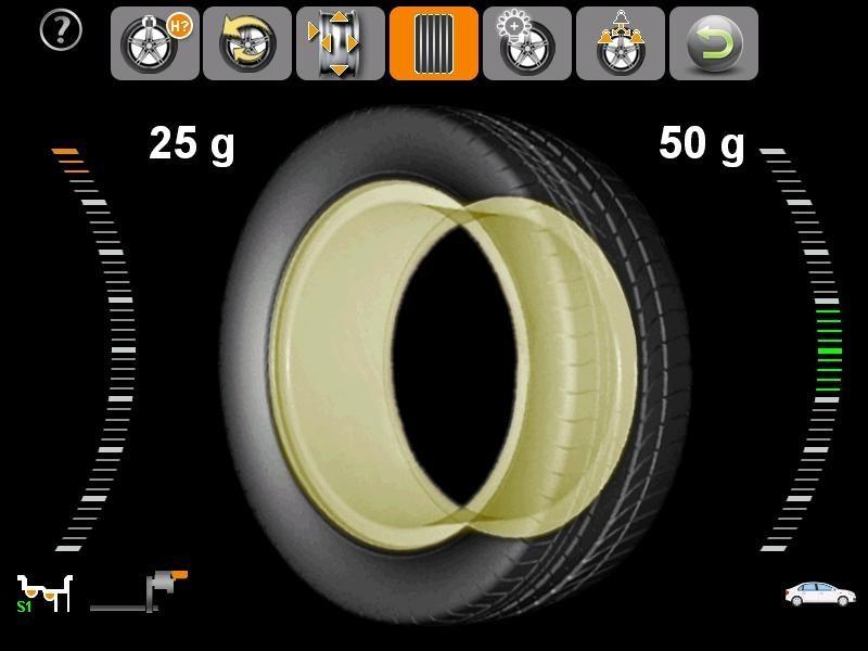Giao diện bảng điều khiển của máy cân mâm vỏ ô tô KOISU