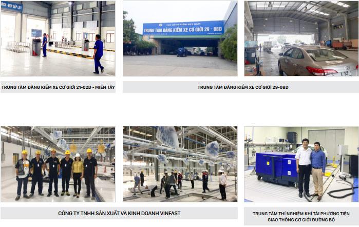 Hình ảnh một số trạm đăng kiểm xe cơ giới tiêu biểu Tân Phát ETEK đã thực hiện