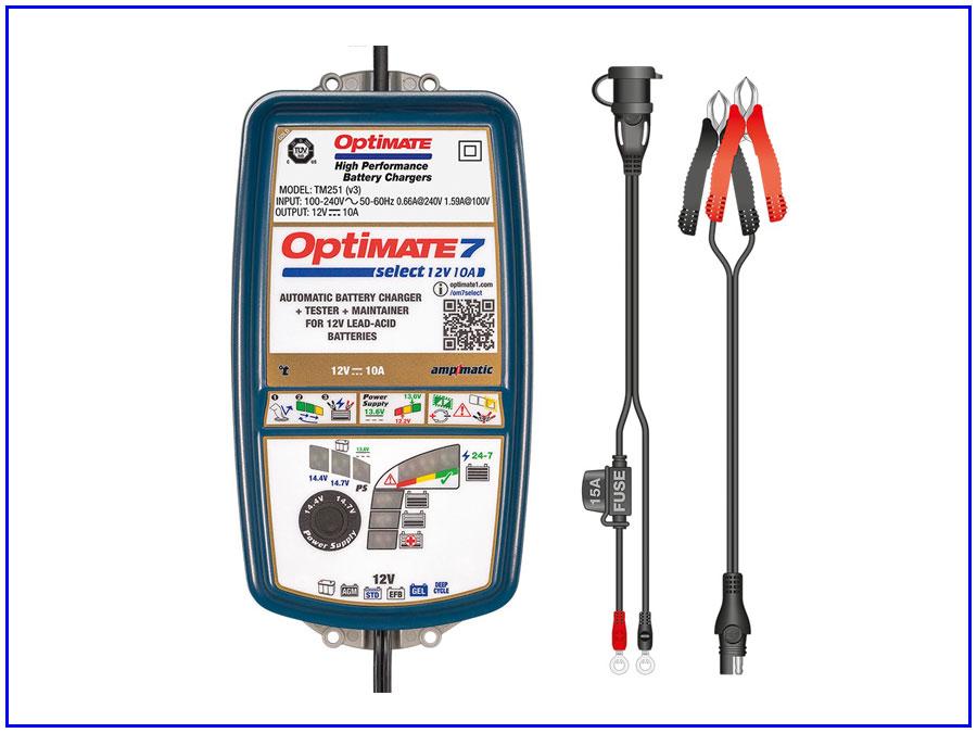 Máy nạp ắc quy ô tô OptiMate-7-Select-TM250