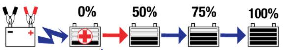 Chương trình nhiều bước hoàn toàn tự động giúp sạc đầy pin một cách an toàn