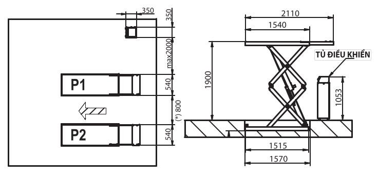 Bản vẽ chi tiết cầu nâng erco 351t