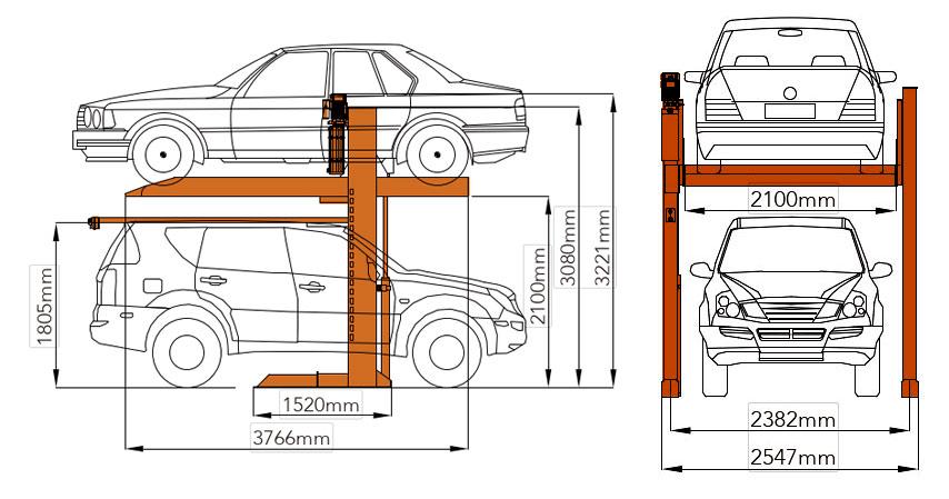 Bản vẽ chi tiết cầu nâng đỗ xe gia đình Mutrade hydropark-1123