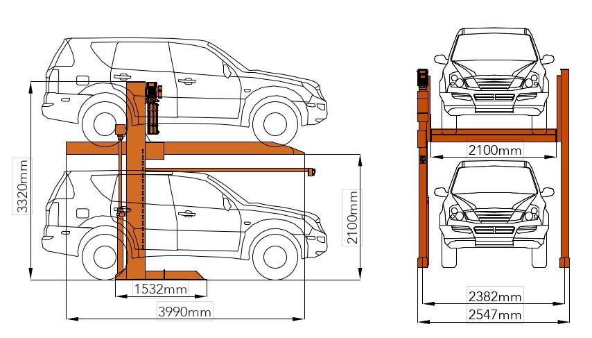 Bản vẽ chi tiết cầu nâng đỗ xe gia đình Mutrade hydropark-1127
