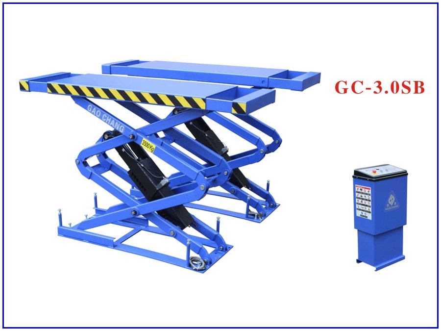 Hình ảnh cầu nâng cắt kéo 3 tấn nâng bụng Gaochang GC-3.0SB