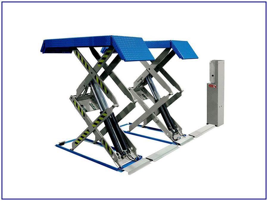 Hình ảnh cầu nâng cắt kéo 3,5 tấn nâng bụng RAV-535