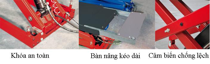 Đặc điểm nổi bật của cầu nâng cắt kéo ERCO 351T