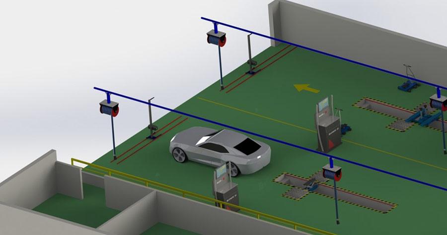 Dây chuyền thiết bị đăng kiểm xe cơ giới