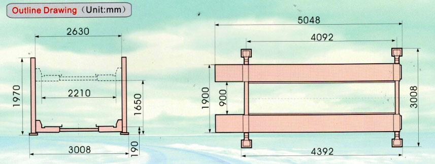 Bản vẽ chi tiết cầu nâng 4 trụ Ritian RT-3.5-4C