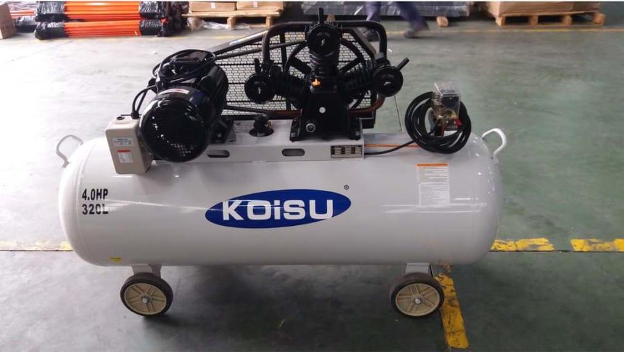 Máy nén khí Piston 3kw/4HP/1pha 320 lít Koisu W-3/320/1 1