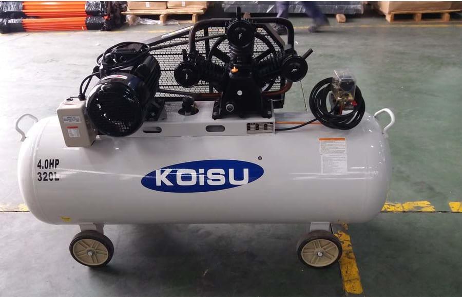Máy nén khí Piston 3kw/4HP/1pha 320 lít Koisu W-3/320/1 2