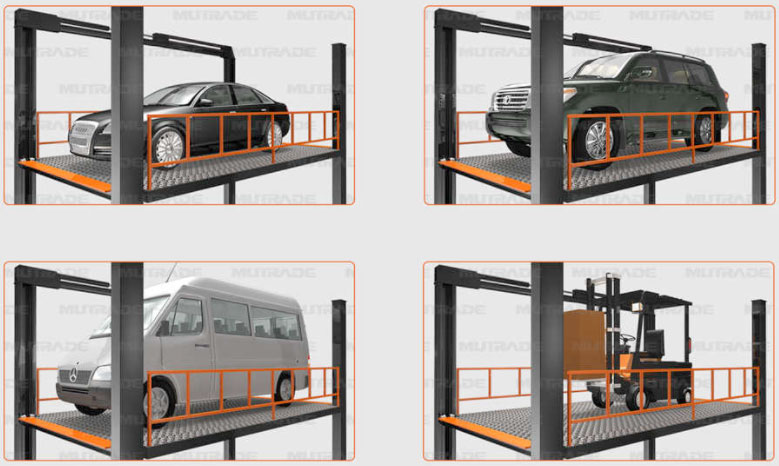Cầu nâng vận thăng ô tô Mutrade