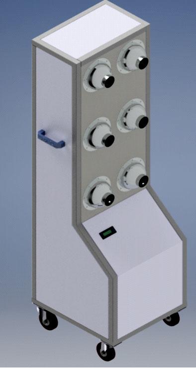 Bộ thổi khí và sấy di động chuyên dùng cho sơn gốc nước