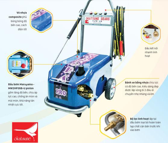 Đặc điểm nổi bật của máy rửa xe áp lực Nhật Bản Okatsune