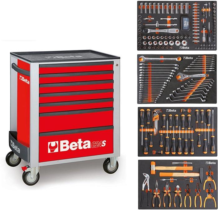 Tủ đồ nghề 7 ngăn 240 chi tiết Beta