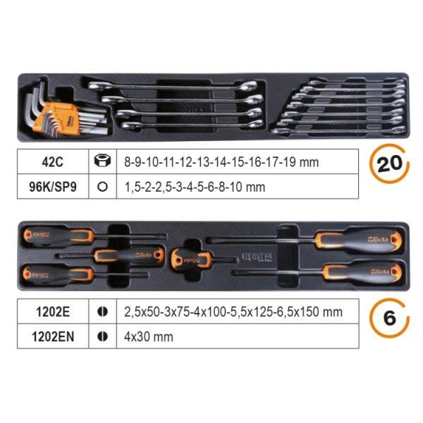 """Bộ dụng cụ sửa chữa 1/2"""" 91 chi tiết Beta 2120L-E/T91-I 3"""